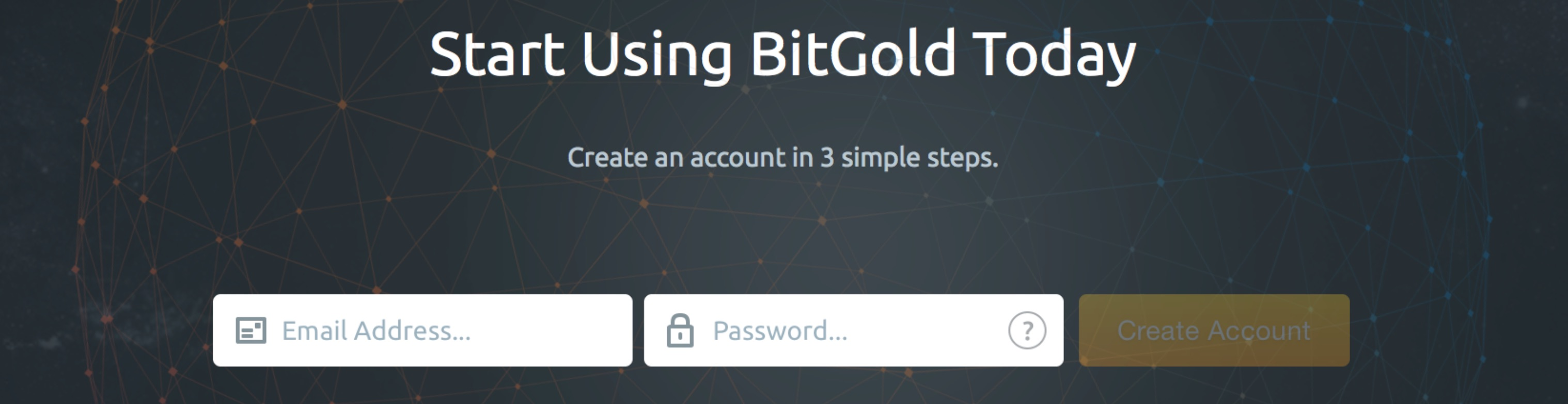 BitGold - Create Account