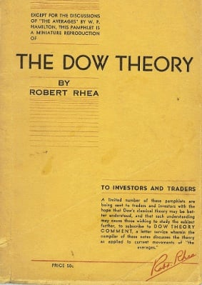 the dow theory robert rhea pdf