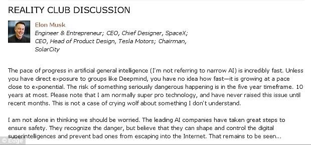 Elon Musk - Edge : Comments