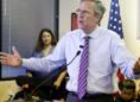Bush hits campaign reset, retools slogan: 'Jeb Can Fix It'
