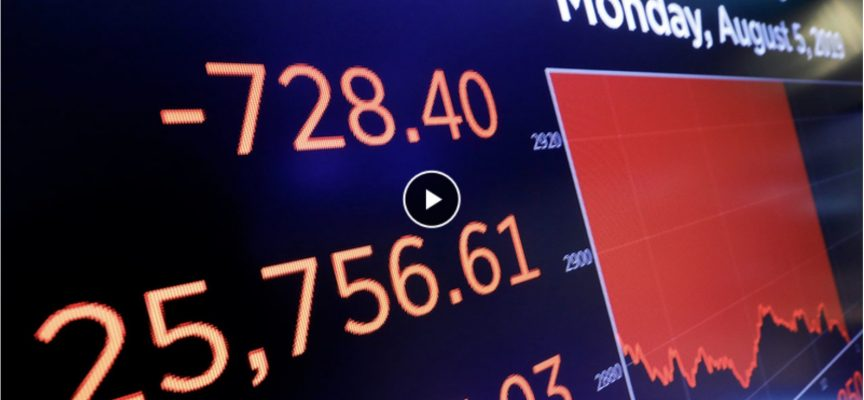 MONDAY'S MARKET WIPEOUT: Stocks Crushed As The Price Of Gold Surges To $1,470