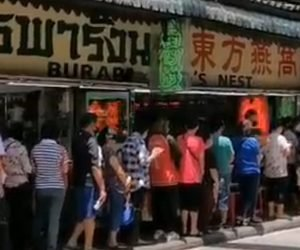 EXCLUSIVE KWN VIDEO FOOTAGE! Look At The Massive Line Of Customers In Thailand's Gold District